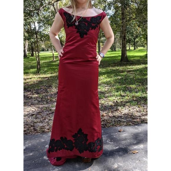 f912f571ff Eavis & Brown Dresses | Eavis Brown London Dark Crimson Beaded Dress ...